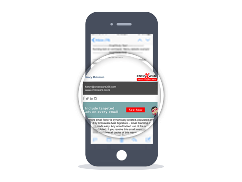 bild Crossware Mail Signature – Mobile Mail Signaturen